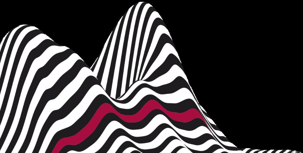Superklänge - Wellen rote Linie