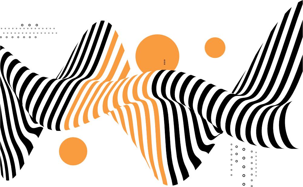 Soundvisualisation - Zebrawelle mit Gelb